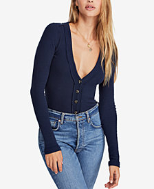 Free People Call Me Cardi Fitted Top