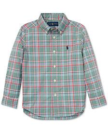 Polo Ralph Lauren Little Boys Plaid Cotton Poplin Shirt