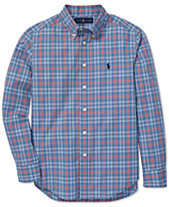2afd7201e999b Polo Ralph Lauren Big Boys Plaid Cotton Poplin Shirt
