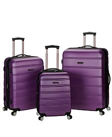 Rockland Melbourne 3PCE Hardside Luggage Set