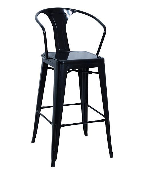 Groovy Bella Luna Galvanized Steel Bar Stool Set Of 4 Gamerscity Chair Design For Home Gamerscityorg