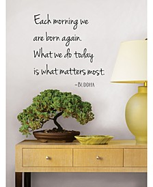 What Matters Wall Quote