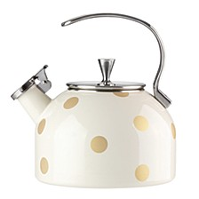 Deco Dot Gold Tea Kettle