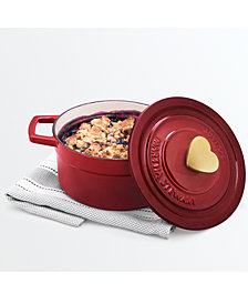 Martha Stewart Collection 2-Qt. Enameled Cast Iron Heart Dutch Oven, Created for Macy's