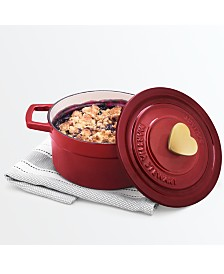 Martha Stewart Collection 2-Qt. Enameled Cast Iron Heart Knob Dutch Oven, Created for Macy's
