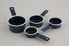 Thirstystone Blue Speckle Measuring Cups, Set of 4