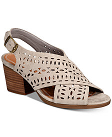 Baretraps Ilene Perforated Block-Heel Sandals