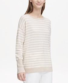Crew-Neck Striped Cashmere Sweater