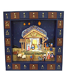 Kurt Adler 16.75-Inch Nativity Advent Calendar, 25 Pieces