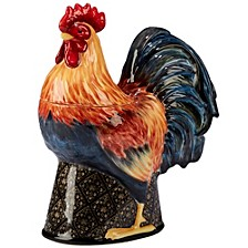 Gilded Rooster 3-D Cookie Jar