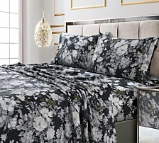 Vernazza Printed 300 TC Cotton Sateen Extra Deep Pocket Cal King Sheet Set