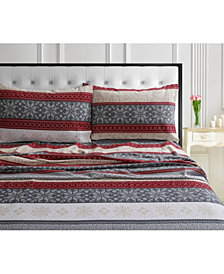 Alpine Knit 170-GSM Cotton Flannel Printed Extra Deep Pocket Queen Sheet Set