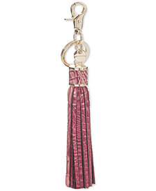 Brahmin Large Tassel Melbourne Embossed Leather Key Chain