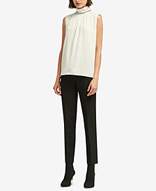 DKNY Embellished Mock-Neck Top, Created for Macy's