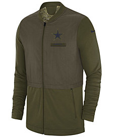 Nike Men's Dallas Cowboys Nike Salute To Service Elite Hybrid Jacket