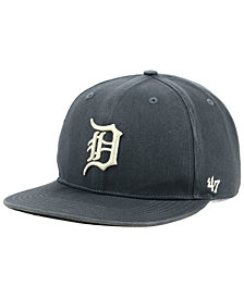 '47 Brand Detroit Tigers Garment Washed Navy Snapback Cap
