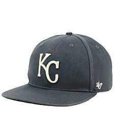'47 Brand Kansas City Royals Garment Washed Navy Snapback Cap
