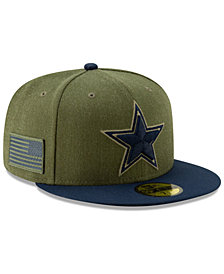 New Era Dallas Cowboys Salute To Service 59FIFTY Fitted Cap 2018 5c92319212a