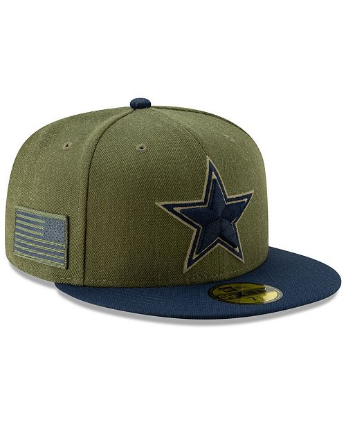 5d25f1e8daadc ... New Era Dallas Cowboys Salute To Service 59FIFTY Fitted Cap 2018 ...