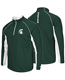 Colosseum Men's Michigan State Spartans Rival Quarter-Zip Pullover