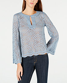 MICHAEL Michael Kors Corded Lace Scallop-Trim Top