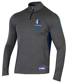 Under Armour Men's Dallas Mavericks Combine Authentic Season Quarter-Zip Pullover