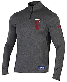 Men's Miami Heat Combine Authentic Season Quarter-Zip Pullover