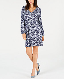 MICHAEL Michael Kors Printed Belted Dress