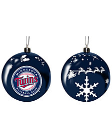 "Memory Company Minnesota Twins 3"" Sled Glass Ball"