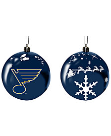 "Memory Company St. Louis Blues 3"" Sled Glass Ball"