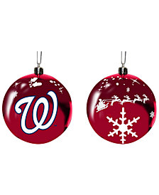"Memory Company Washington Nationals 3"" Sled Glass Ball"