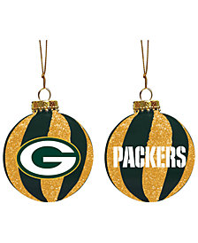 "Memory Company Green Bay Packers 3"" Sparkle Glass Ball"