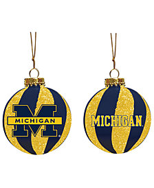 "Memory Company Michigan Wolverines 3"" Sparkle Glass Ball"