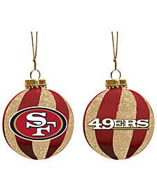 "Memory Company San Francisco 49ers 3"" Sparkle Glass Ball"
