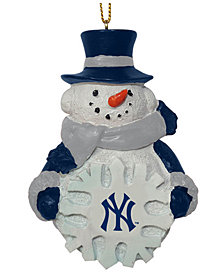 Memory Company New York Yankees Snowflake Snowman Ornament