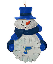 Memory Company St. Louis Blues Snowflake Snowman Ornament
