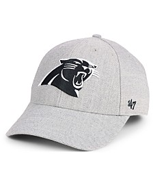 '47 Brand Carolina Panthers Heathered Black White MVP Adjustable Cap