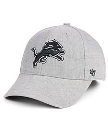 Detroit Lions Heathered Black White MVP Adjustable Cap