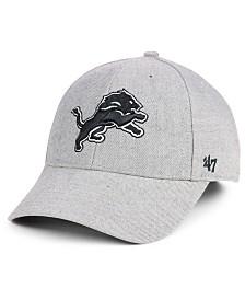 '47 Brand Detroit Lions Heathered Black White MVP Adjustable Cap