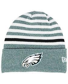 796c13f835d New Era Philadelphia Eagles Striped2 Cuff Knit Hat