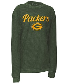 Pressbox Women's Green Bay Packers Comfy Cord Top