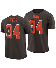 Nike Men's Carlos Hyde Cleveland Browns Pride Name and Number Wordmark T-Shirt