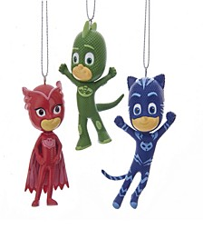 Kurt Alder PJ Masks Gekko, Catboy and Owlette Ornament Set, 3-Piece Set