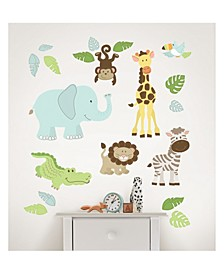 Safari Buddies Wall Art Kit