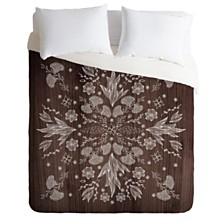 Deny Designs Iveta Abolina White Floral Twin Duvet Set