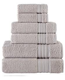 Turkish Spa Collection 6-Pc Cotton Towel Set