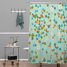 Deny Designs Heather Dutton Delilah Blue Shower Curtain