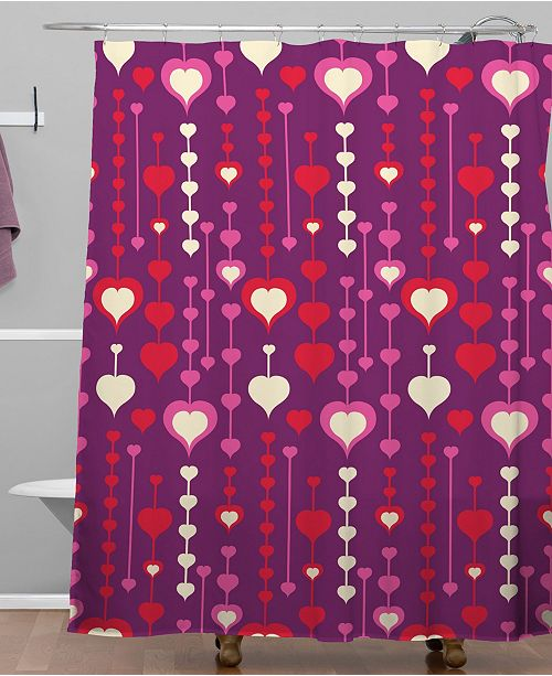 Deny Designs Heather Dutton Falling In Love Shower Curtain