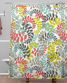 Heather Dutton Undertow Coral Shower Curtain
