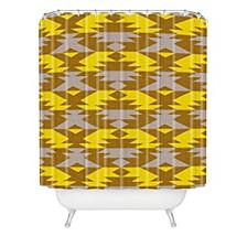 Holli Zollinger Bright Native Diamond Shower Curtain